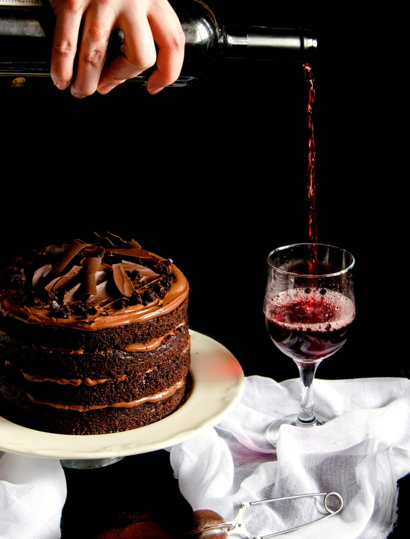 Red WIne Chocolate Cake - Tort cu ciocolata si vin rosu